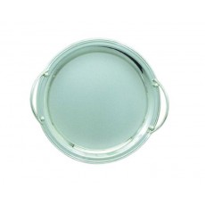06. Stainless Steel Circular Tray with Handles