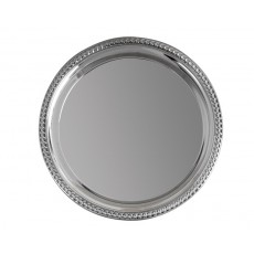 21. Silver Plated Heavy Gauge Circular Tray, 10""