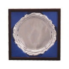"14. Silver Baroque Tray 13"", Presentation Box"