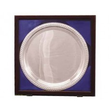 "12. Silver Gadroon Tray 10"", Presentation Box"