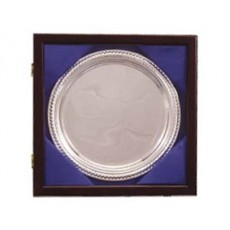 "11. Silver Gadroon Tray 8"", Presentation Box"
