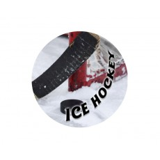 Ice Hockey Acrylic Button