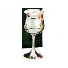"18. Silver Tulip Goblet, 5.5"""