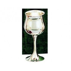 "19. Silver Tulip Goblet, 6.5"""