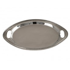 04. Oval Nickel Plated Brass Tray