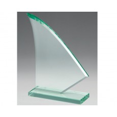 Jade Glass Abstract Sail