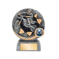 Bursting Motorcross Resin Trophy