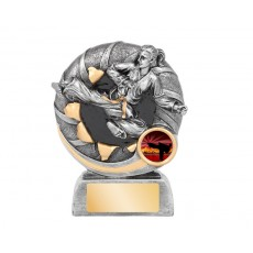 Bursting Female Karate Resin Trophy