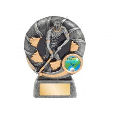 Male Bursting Hockey Resin Trophy