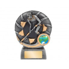 Female Bursting Hockey Resin Trophy