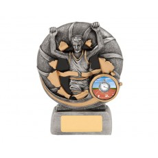 Bursting Male Athletics Resin Trophy