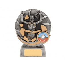 Bursting Female Athletics Resin Trophy