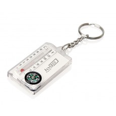 04. Thermometer Compass Keyring