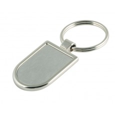 01. Brushed Finish Stainless Steel Keyring