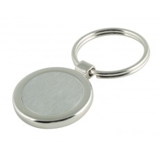 03. Brushed Finish Stainless Steel Round Keyring