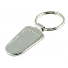 04. Brushed Finish Stainless Steel Keyring