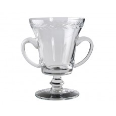 11. Large 'Laurel Wreath' Glass Trophy Cup, 250mm