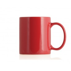 Red Ceramic Can Mug