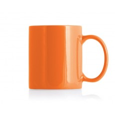 Orange Ceramic Can Mug