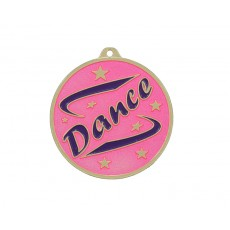 08. Gold Pink & Purple Dance Medal