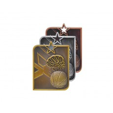 05. Basketball Rectangle Medal