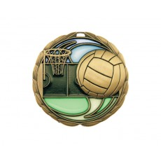 08. Stained Glass Netball Medal
