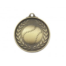 04. Antique Gold Baseball Medal 52mm