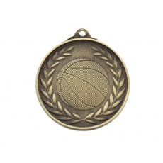 03. Antique Gold Basketball Medal