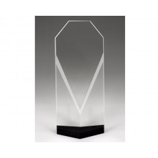 Clear Crystal Award with Black Crystal Reflection Award
