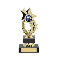 "01. Handball Gold 1"" Star Holder, Olympia Blue Base"