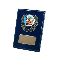 "17. 2"" Holder, Royal Blue Plaque"
