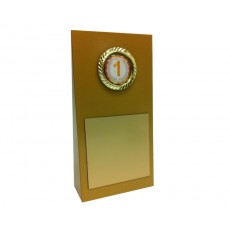 "1"" Holder, Gold Wedge Trophy"