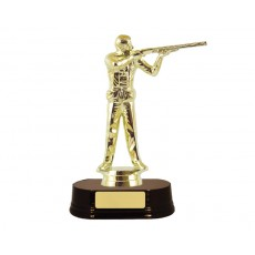 03. Trap Shooting Male Figure, Rosewood Base