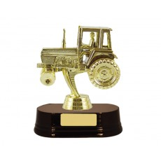 01. Tractor Figure, Rosewood Base