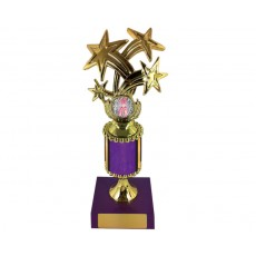 "11. Dance Bursting Star 1"" Holder, Purple Column & Base"