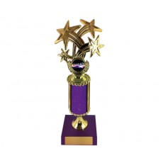 "12. Dance Bursting Star 1"" Holder, Purple Column & Base"