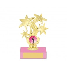 "41. Dance Star 1"" Holder, Pink Base"