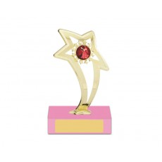 "42. Dance Star 1"" Holder, Pink Base"