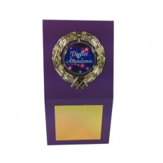 "1"" Holder, Purple Desk Plaque"