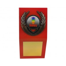 "1"" Holder, Orange Desk Plaque"