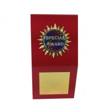 "1"" Holder, Red Desk Plaque"