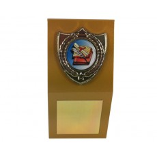 "1"" Holder, Gold Desk Plaque"