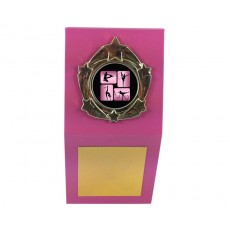 "05. Rhythmic Gymnastics 1"" Holder, Pink Desk Plaque"