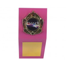 "1"" Holder, Pink Desk Plaque"