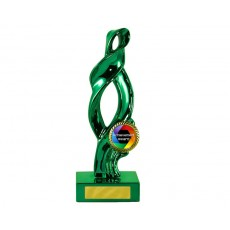 "10. Metallic Green Ribbon on Green Base, 1"" Holder"