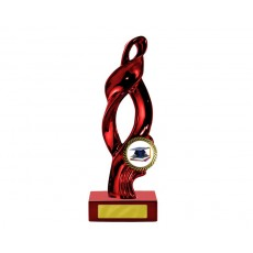 "11. Metallic Red Ribbon on Red Base, 1"" Holder"