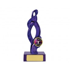 "13. Metallic Purple Ribbon on Pink Base, 1"" Holder"