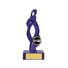 "21. Metallic Purple Ribbon on Pink Base, 1"" Holder"