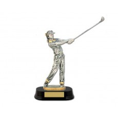 43. Female Golf, Wooden Base Trophy