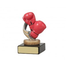 07. Red Boxing Gloves Figure on Black Base
